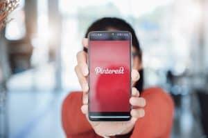 Pinterest application on mobile